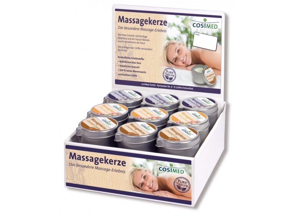 cosiMed predajný set masážnych sviečok - 18 x 40 g