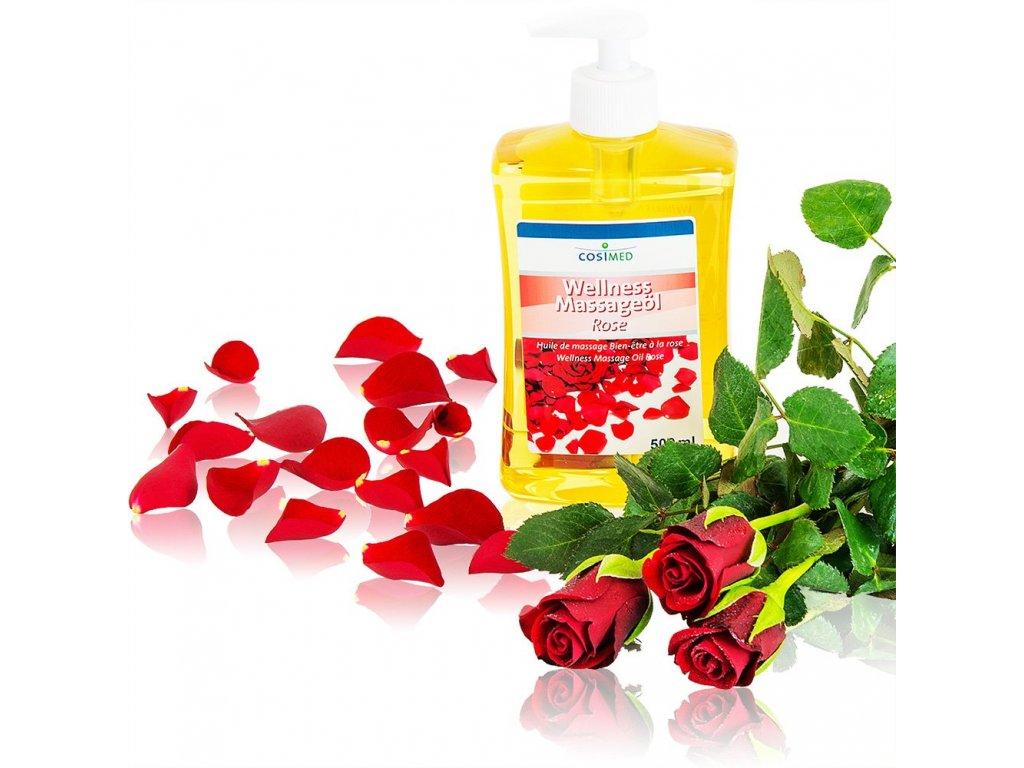 cosiMed wellness masážny olej Ruža - 500 ml