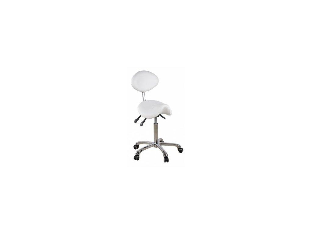 Masérska stolička so sedlovým sedákom a oporou chrbta