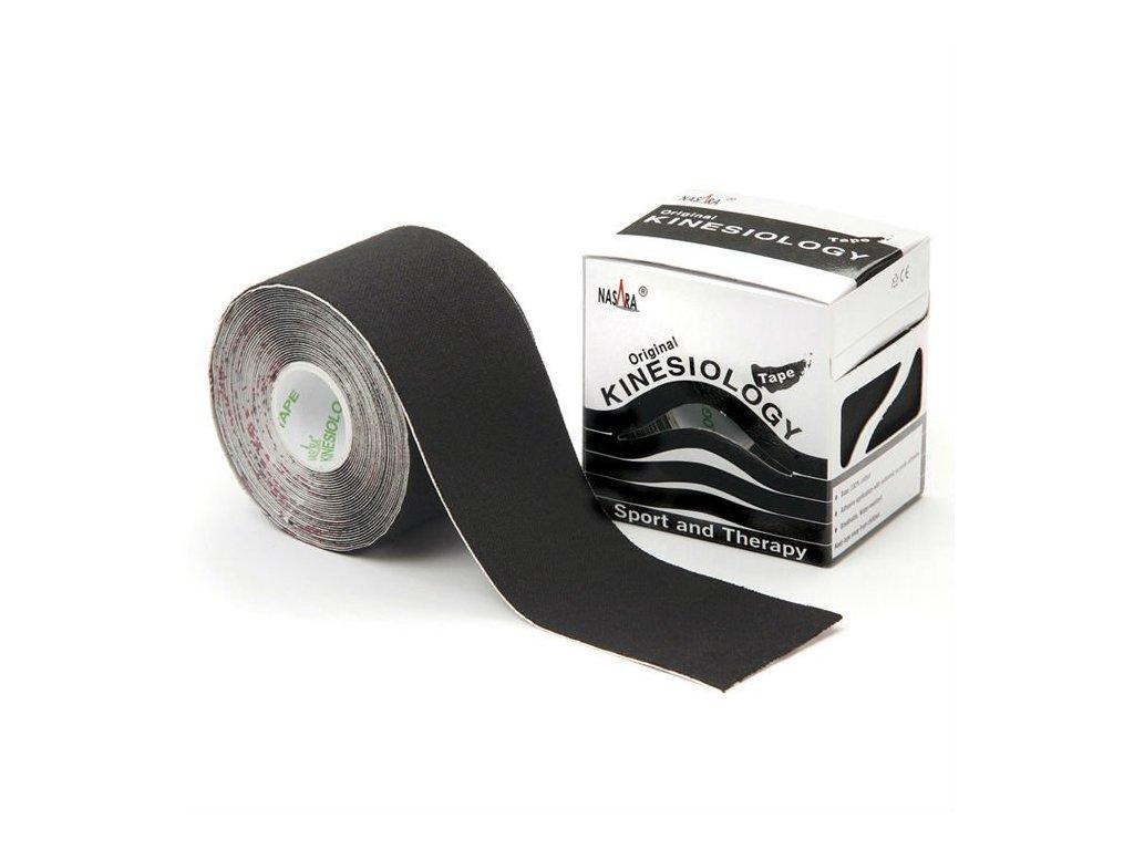 NASARA kinesio tape, čierna tejpovacia páska 5cm x 5m