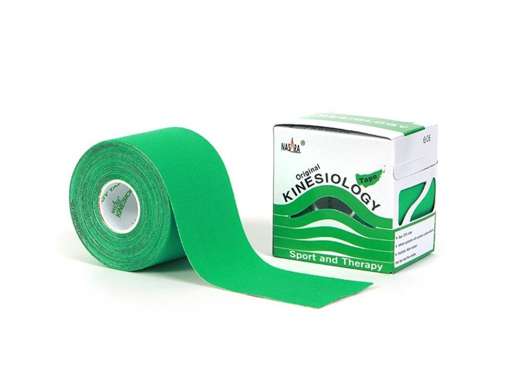 NASARA kinesio tape, zelená tejpovacia páska 5cm x 5m