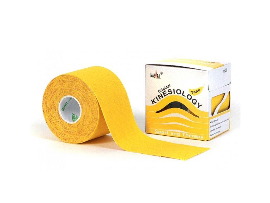 NASARA kinesio tape, žltá tejpovacia páska 5cm x 5m