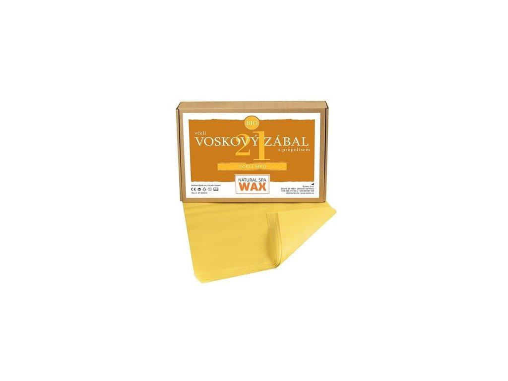 Prírodný voskový zábal - Včelí med, 20ks