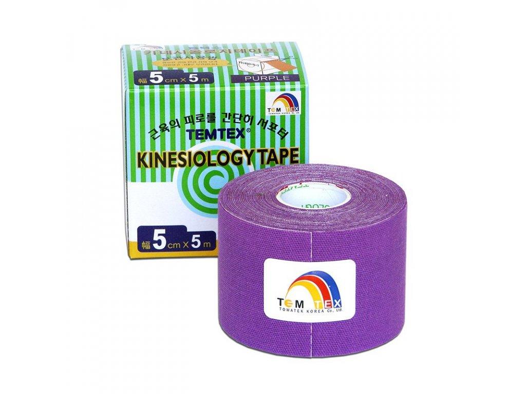 TEMTEX kinesio tape Classic, fialová tejpovacia páska 5cm x 5m