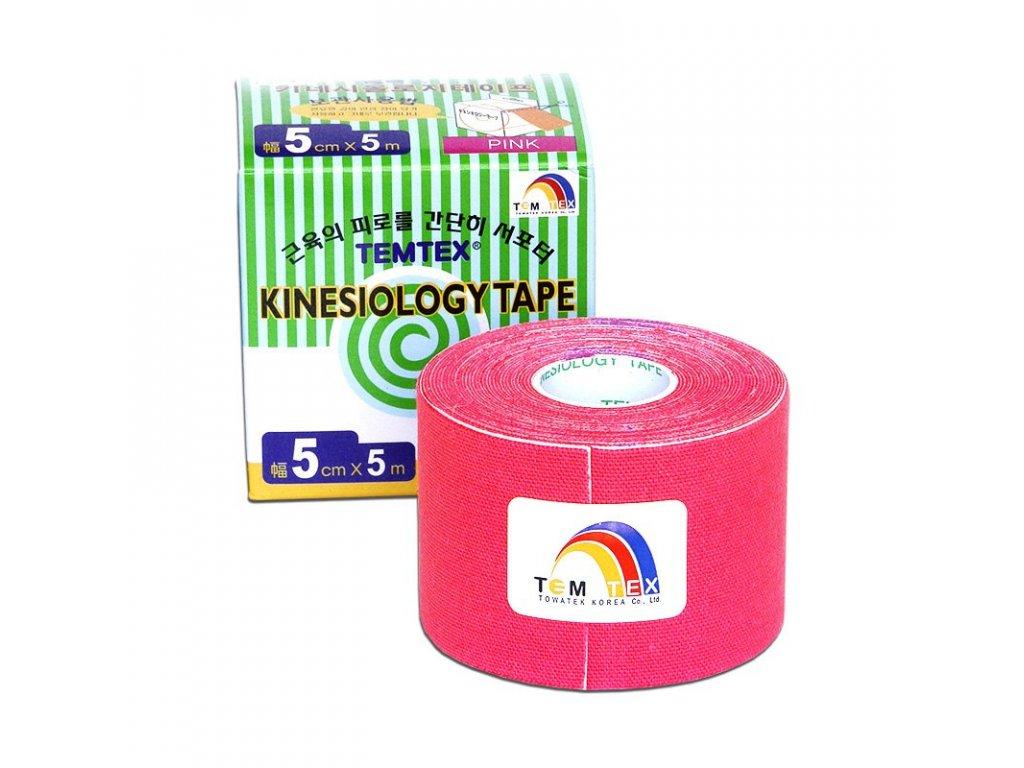 TEMTEX kinesio tape Classic, ružová tejpovacia páska 5cm x 5m