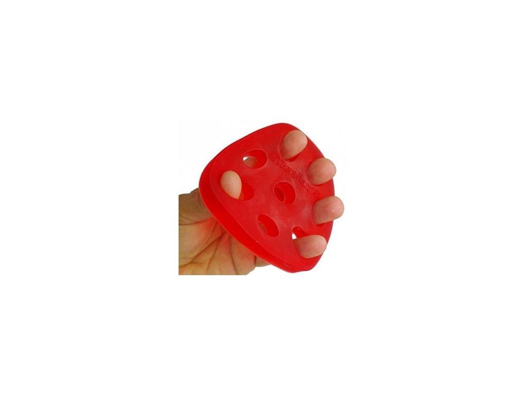 THERA-BAND Hand Xtrainer - posilňovač prstov a dlane, červený – mäkký