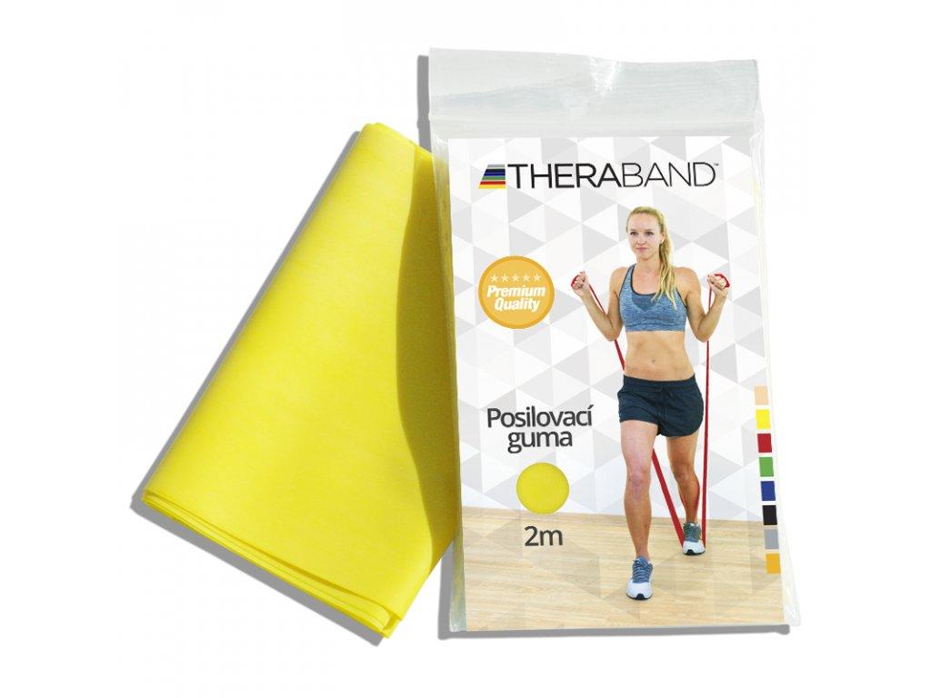 Posilňovacia guma Thera Band, 2m, žltá slabá