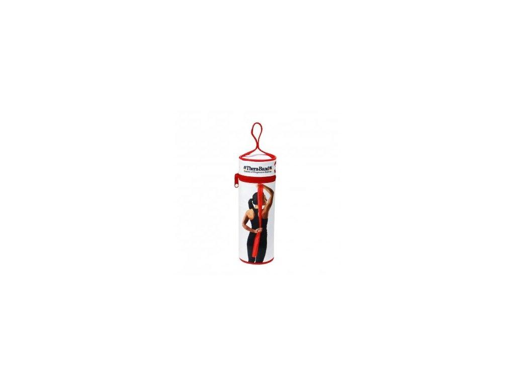 THERA-BAND posilňovacia guma 2,5 m s obalom, červená, stredne silná