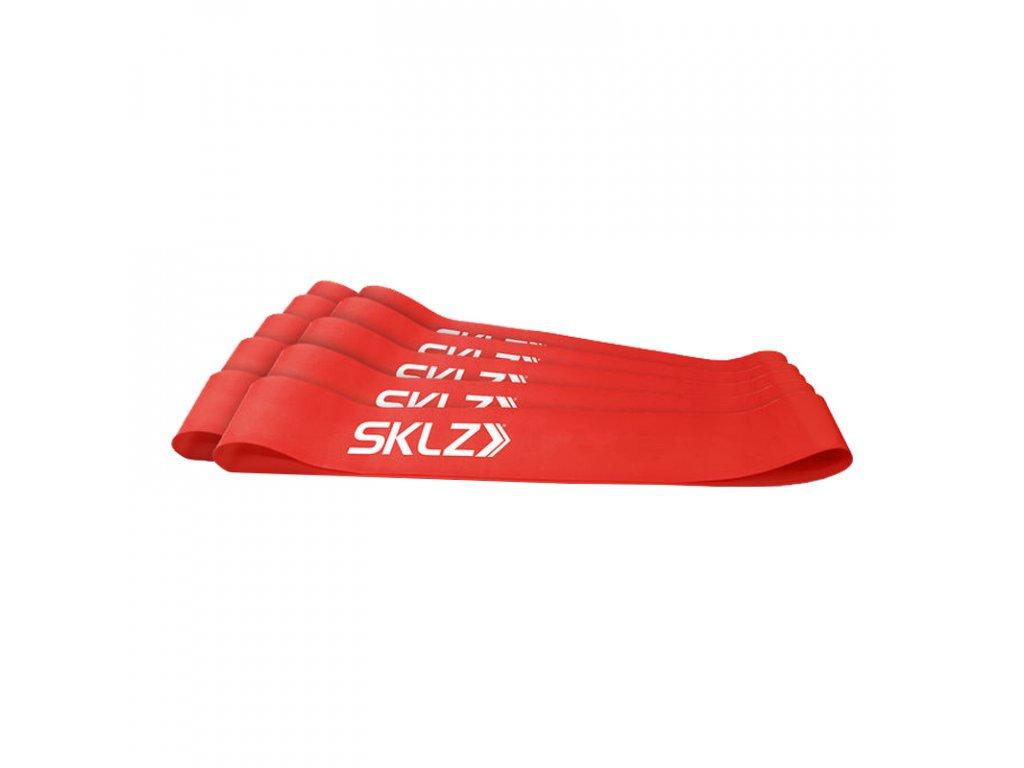 SKLZ MINI BANDS RED, posilňovacia slučka červená (stredná), 10 ks