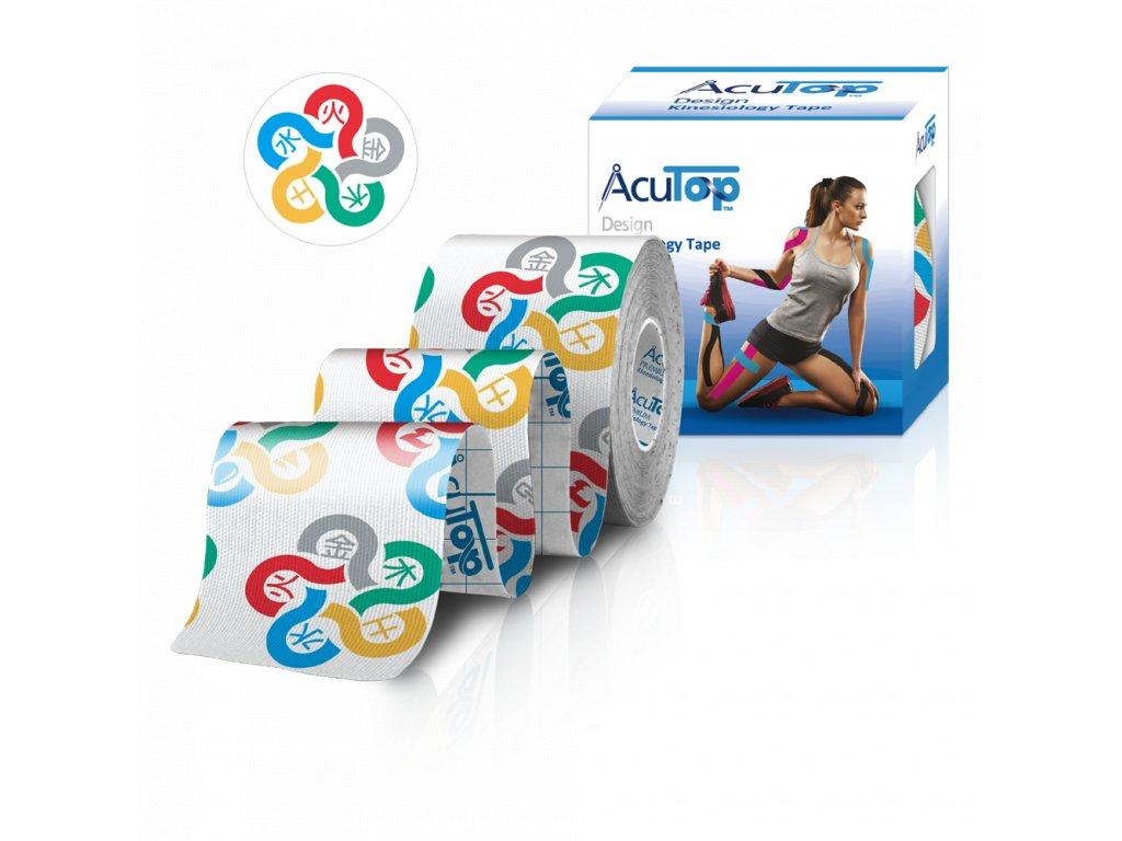 AcuTop Design Kinesio Tape, 5 elementov, 5cm x 5m