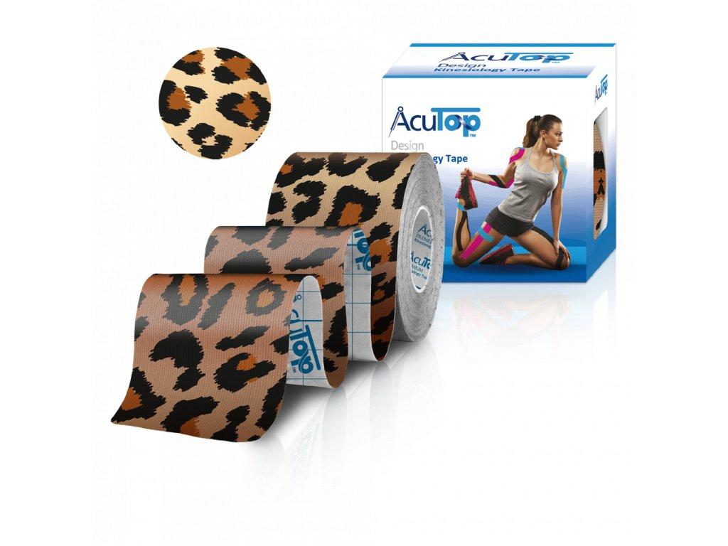 AcuTop Design Kinesio Tape, leopard, 5cm x 5m