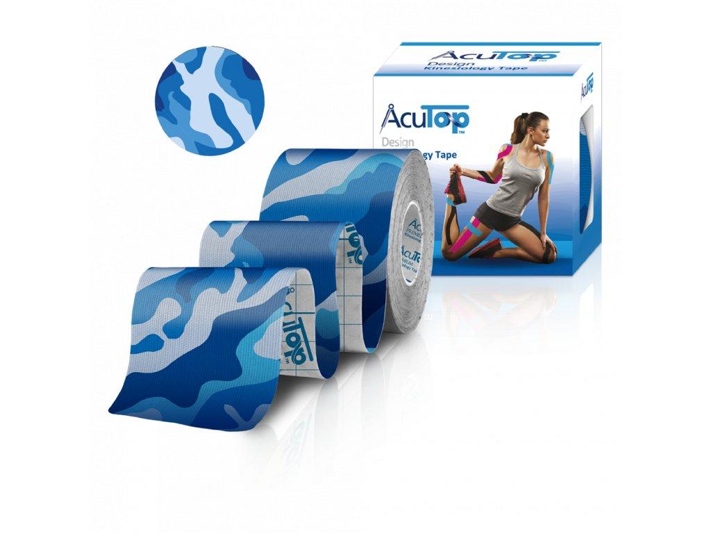 AcuTop Design Kinesio Tape, blue camo, 5cm x 5m
