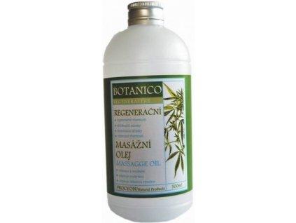 Botanico konopný masážny olej so soľou z Mŕtveho mora - 500 ml