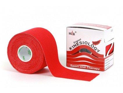 NASARA kinesio tape, červená tejpovacia páska 5cm x 5m