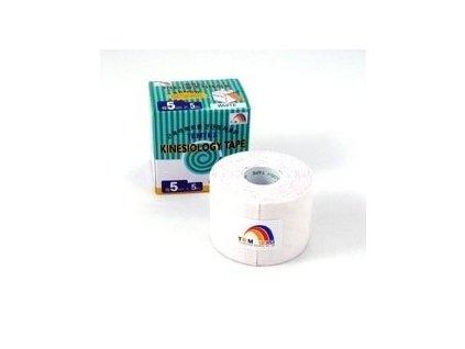 TEMTEX kinesio tape Classic, biela tejpovacia páska 5cm x 5m