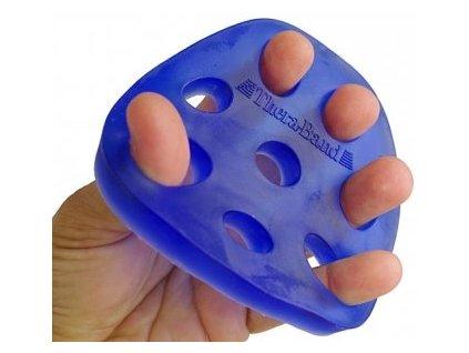 THERA-BAND Hand Xtrainer - posilňovač prstov a dlane, modrý – tuhý