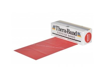 THERA-BAND posilňovacia guma 5,5 m, červená, stredne silná