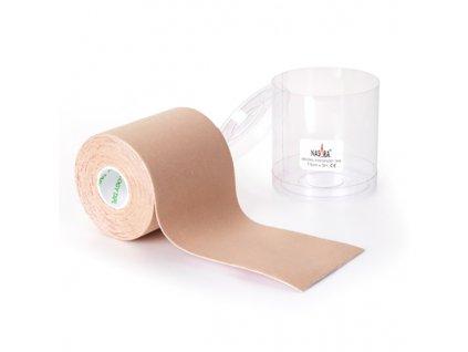 NASARA kinesio tape, béžová tejpovacia páska 7,5cm x 5m