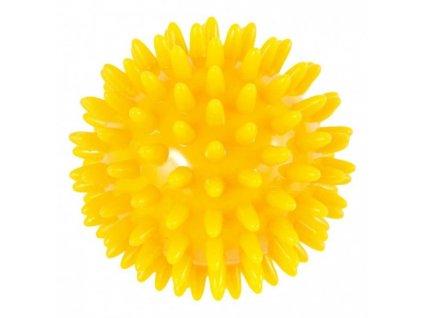 THERA BAND masážna loptička ježko, 8 cm, žltý