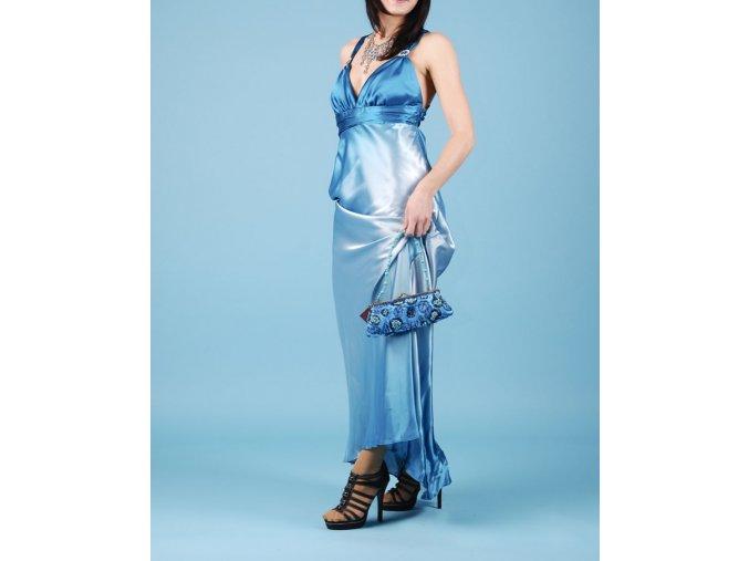 JUMP dámské dlouhé modré plesové šaty