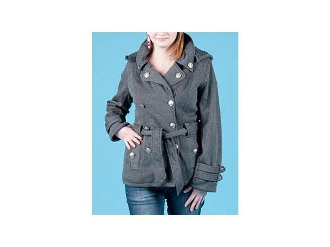 Snobbish dámské teplé sako tmavě šedé