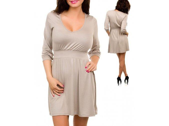 JFANY D USA dámské béžové šaty