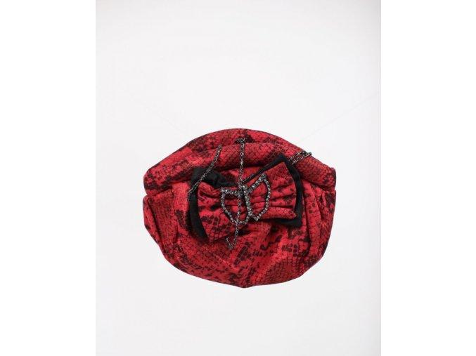 IN'S dámská kabelka červená s mašličkou a motýlkem
