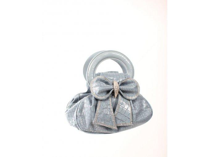 IN'S dámská kabelka světle modrá s mašličkou