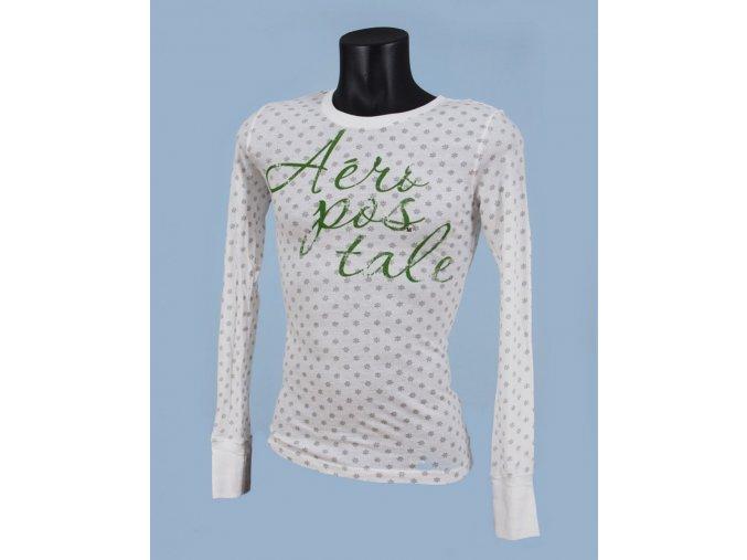 Aéropostale dámské vánoční tričko bílé