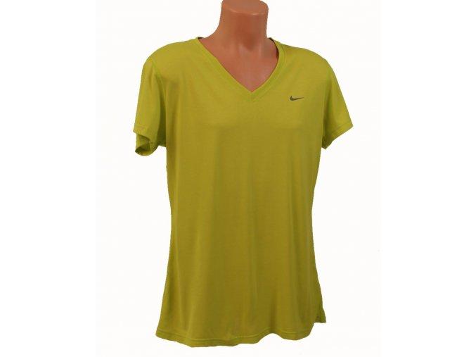 NIKE pánské tričko zelené neonové