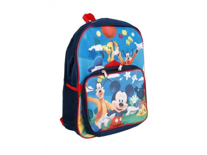 DISNEY dětský batoh modrý s obrázkem Mickey Mouse, Pluta a Goofy