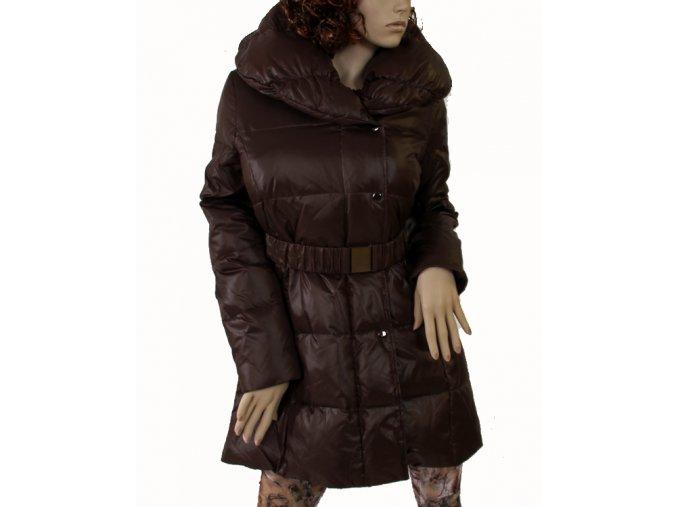 VIA SPIGA dámská bunda hnědá lesklá