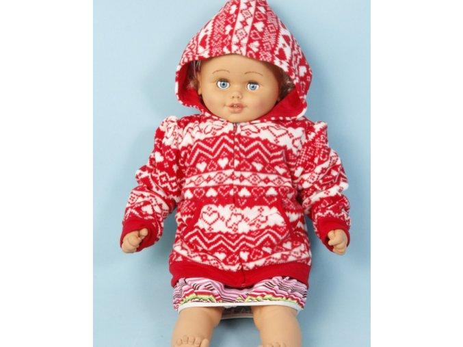 FADED GLORY dětská bunda červená se vzorem