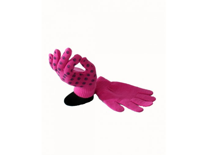 FADED GLORY dětské růžové rukavice