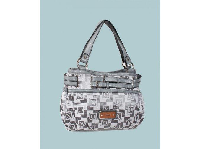 XOXO dámská kabelka šedá s nápisy XOXO