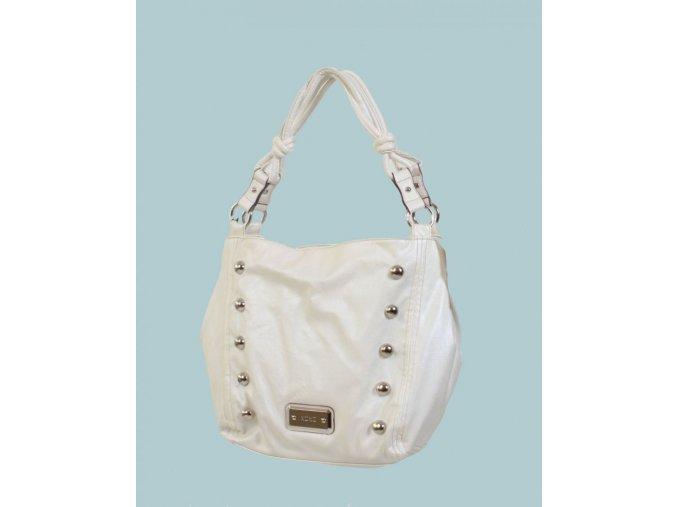 XOXO dámská kabelka bílá PEARL s ozdobnými cvoky