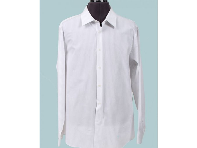 I.N.C. pánská košile bílá proužkovaná