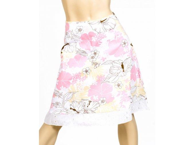 VIVA YOU U.S.A. dámská sukně růžovobílá
