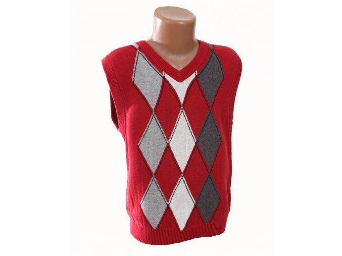 XG dětská vesta červená se vzorem