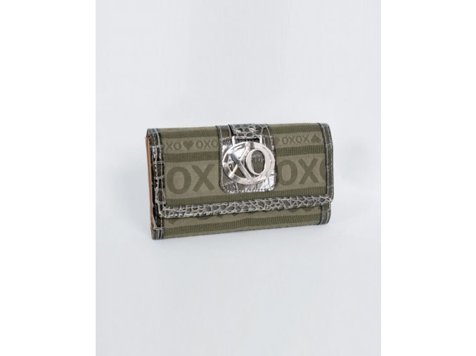 XOXO dámská pěněženka zelená olivová