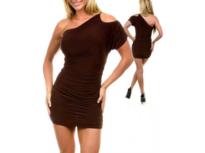 JFANY D USA dámské šaty hnědé kávové