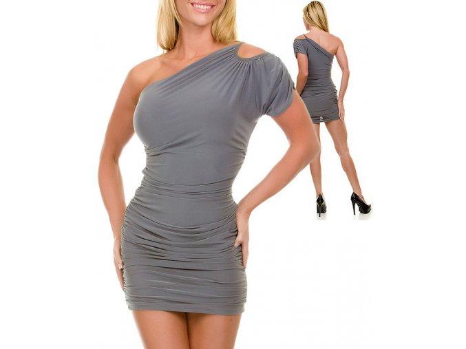 JFANY D USA dámské šaty šedé