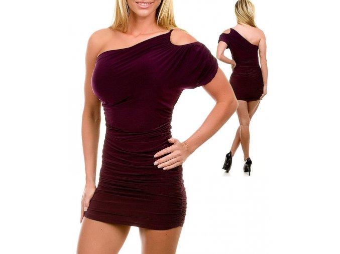 JFANY D USA dámské šaty tmavě fialové
