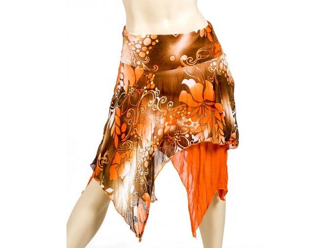 VIVA YOU U.S.A. dámská sukně hnědooranžová