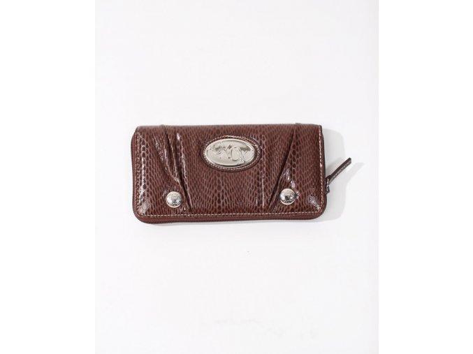 XOXO dámská peněženka lesklá hnědá