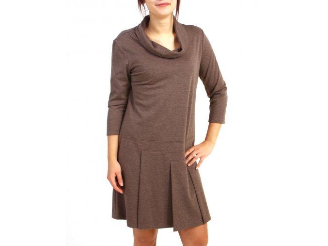 Tiana B.dámské šaty hnědé