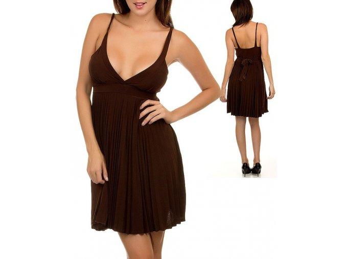 NINA PIU USA dámské šaty hnědé