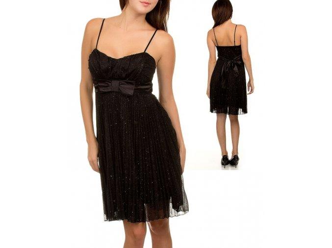 NINA PIU USA dámské šaty plesové černé