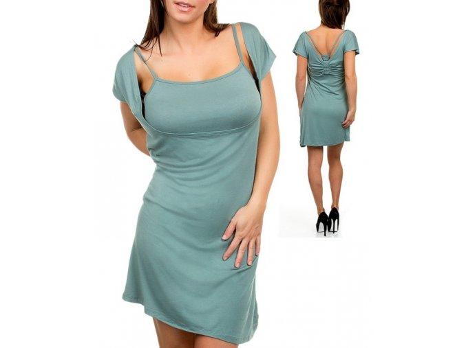 AAApple dámské šaty zelené