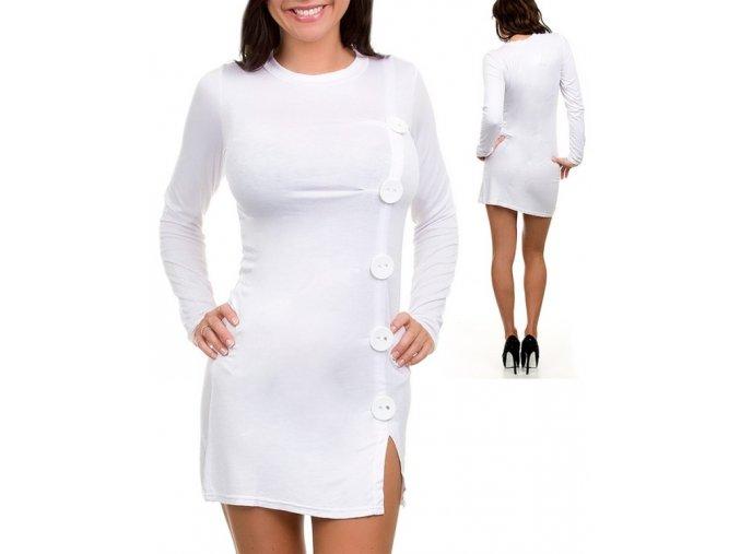 EVERY DAY dámské šaty bílé s knoflíky